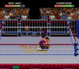 WWF Raw SNES A piledriver from the Hitman
