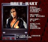 WWF Raw SNES Character sheet of Bret Hart