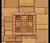 The Adventures of Tintin: Prisoners of the Sun SNES The password screen