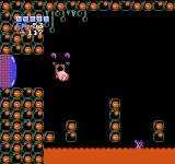Metroid NES Using the screw attack to kill an enemy.