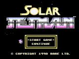 Solar Jetman: Hunt for the Golden Warpship NES Title screen