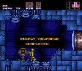 Super Metroid SNES Some terminals allow you to restore your energy