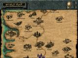 Baldur's Gate Windows The world map reveals new locales as you explore from one location to the next