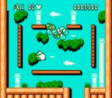 Bubble Bobble Part 2 NES Hold down the attack button and you can float upwards!