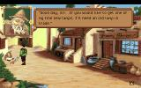 King's Quest VI: Heir Today, Gone Tomorrow Amiga Talking to a street peddler.
