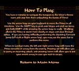 Prince of Persia: Special Edition Browser Instructions