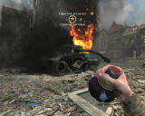 Medal of Honor: Airborne Windows Destroyed tank.