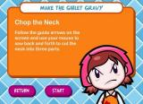 Cooking Mama: Mama Kills Animals Windows Instructions to chop the neck.