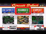 Daytona USA Windows Selecting from the three available tracks