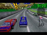 """Daytona USA Windows Passing a car on the Intermediate track -- notice the """"radar"""" in the upper right"""