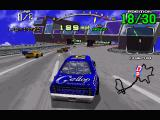 Daytona USA Windows Keep to the left at the beginning of the Expert track, or you may find yourself wasting time with an accidental pitstop!