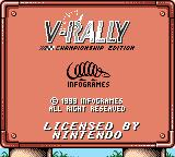 V-Rally Championship Edition Game Boy Color Title screen
