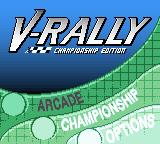 V-Rally Championship Edition Game Boy Color Main menu (USA and European versions)