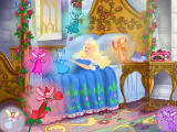 Barbie as Sleeping Beauty Windows Tend to the sleeping beauty's needs by providing music and grooming services