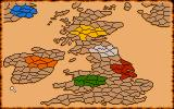 Vikings: Fields of Conquest - Kingdoms of England II DOS Overall map. It it Iceland, where blue player was placed?