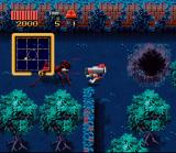 Zombies Ate My Neighbors SNES Julia fires away at a huge ant. You'll need a powerful weapon to kill this creep