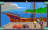 Conquests of Camelot: The Search for the Grail DOS At the docks, before departing to the Holy Land