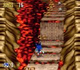 Sonic 3D Blast Genesis bonus stage: collect rings, avoid spikes