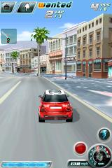 Asphalt 4: Elite Racing iPhone Cruising along the in-game replica of the Hollywood Walk of Fame