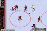 NHL 2002 Game Boy Advance A Boston forward gets dumped coming into the zone.
