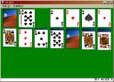 Microsoft Solitaire Windows Solitaire running in XP (Korean)