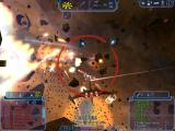 Freelancer Windows Asteroid Action: Another Hessian fighter goes down in a fireball.