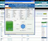 Championship Manager Online Browser A player's details in a pop-up window.