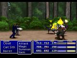 """Final Fantasy VII PlayStation Fighting Rudy and Reno, the two so-called """"Turks"""" (nothing to do with Turkey though), mercenaries who work for Shinra. We'll have to battle them several times during the game"""