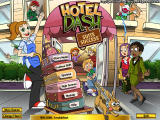 The Hotel Dash title screen