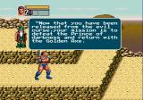 Golden Axe III Genesis The dwarf from the previous game instructs the new hero