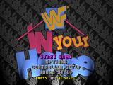 WWF in Your House PlayStation Main menu
