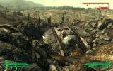 The crashed alien scout in the Capital Wastes