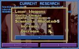 X-COM: UFO Defense Windows Assigning scientists to a new research project.