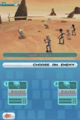 Code Lyoko: Fall of X.A.N.A Nintendo DS Selecting the opponent during the battle