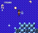 Gun-Nac NES The mid-level boss of Area 3 is a giant Siren.