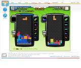 Tetris Friends Browser A two-player game in progress.