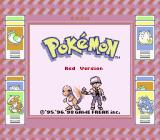 Pokémon Red Version Game Boy Title screen (Super Game Boy)