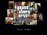 Grand Theft Auto: San Andreas Xbox Title screen.