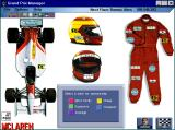 Grand Prix Manager Windows 3.x The sponsorship screen