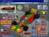Grand Prix Manager Windows 3.x The car building  screen outside