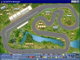Grand Prix Manager Windows 3.x The race screen shows little cars going round the track