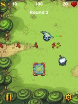 Fieldrunners J2ME Here comes the attackers - who are no problem for my guns