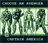 Captain America and the Avengers Game Boy Choose an Avenger