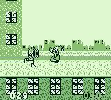 Captain America and the Avengers Game Boy Fighting a mini-boss.