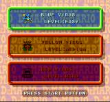 Dr. Mario SNES If you want to play Vs. Com, select a difficulty level.