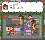 Crayon Shin-chan: Arashi o Yobu Enji SNES Playing a rock-paper-scissors game