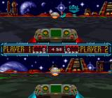 Space Football: One on One SNES 2 player split screen match