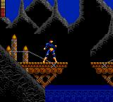 X-Men Game Gear Playing Cyclops in a level composed of bridges