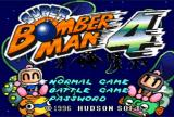 Super Bomberman 4 SNES Title Screen/Main Menu