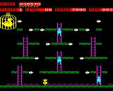 Chuckie Egg BBC Micro Level 8 has eggs that can only be collected by falling off the edges of the platforms. Get it wrong and you'll fall all the way to the bottom.